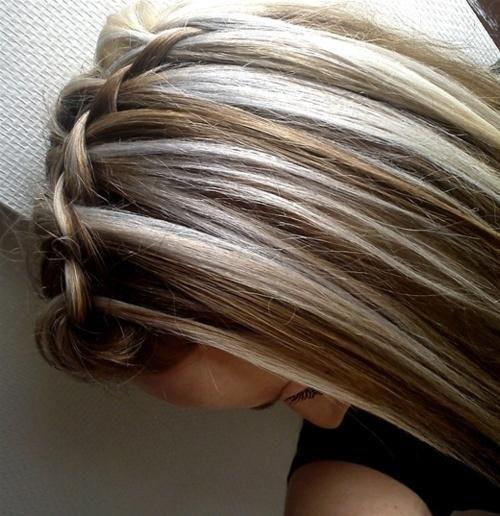 trançado com destaques marrom e loiro