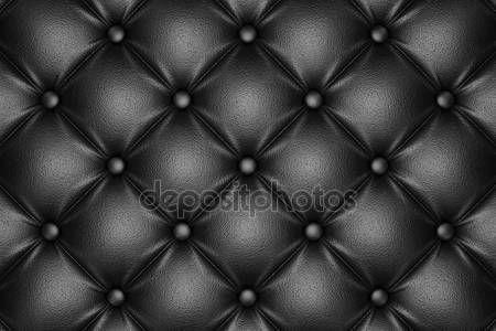 Preto acolchoado padrão de couro — Fotografia de Stock