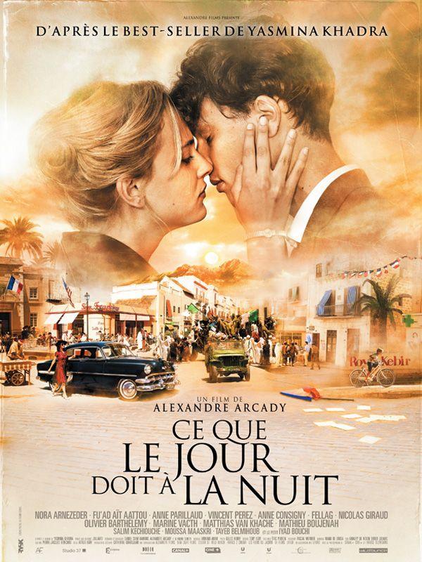 Ce que le jour doit à la nuit est un film de Alexandre Arcady avec Nora Arnezeder, Fu'ad Ait Aattou. Synopsis : Algérie, années 1930. Younes a 9 ans lorsqu'il est confié à son oncle pharmacien à Oran. Rebaptisé Jonas, il grandit parmi les jeunes de Rio Salado do