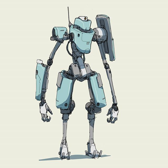 196 2016 just standing around...  #mech #mecha #robot #sketch #quicksketch…