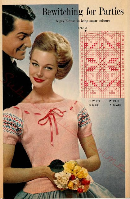 Bewitching For Parties, A Gay Blouse in Icing Sugar Colours c. 1950s - Subversive Lesbian Anarchic Femme!