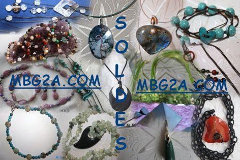 Colliers, bracelets réalisés avec des minéraux, gemmes, by Mbg2a