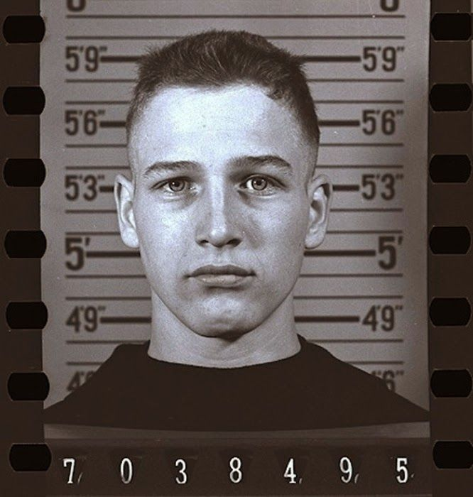 Paul Newman's Navy Enlistment Photo 1943.