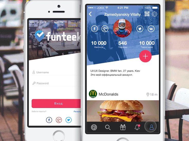 Funteek by Vitaliy Zamedyanskiy #interface #dribbble #ui #ux