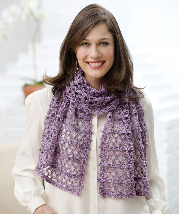 Here's the perfect gift idea! It can be crocheted and given any season of the year to be worn as a scarf or a shawl.