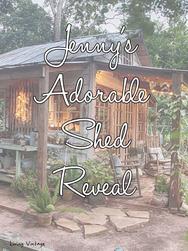 Jenny's adorable shed made with reclaimed building materials | Living Vintage #Buildyourownshed