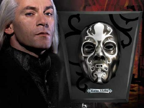 Lucius Malfoy Death Eater Mask Replica Harry Potter Noble Wizarding World $149.95