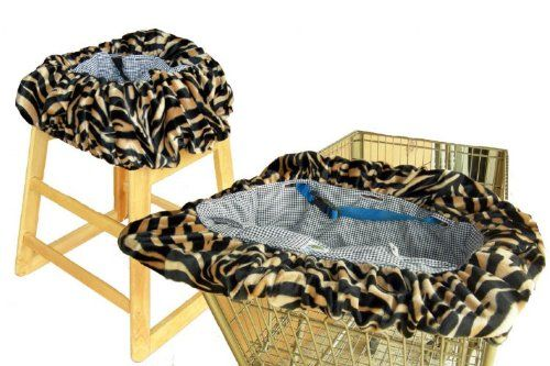 Patricia Ann Designs Tiger Shopping Cart Cover Perfect solution for dining in restaurant high chairs. 100% washable and dryable. Plush padding with ultimate coziness in mind. Child's favorite distractions. Two convenient pockets.  #Patricia_Ann_Designs #Baby_Product