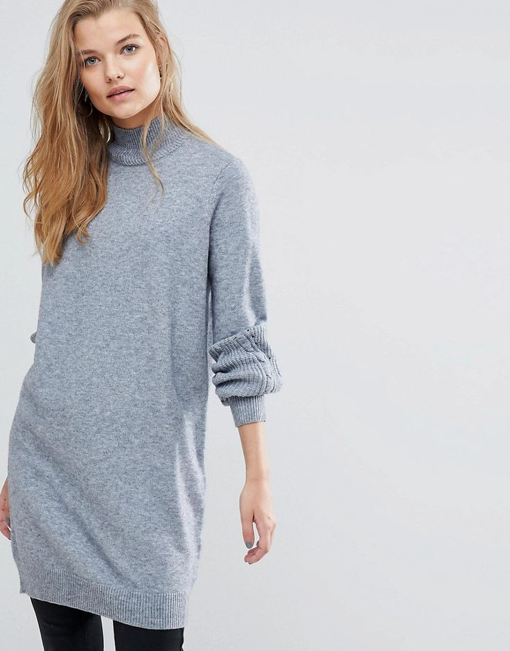Y.A.S Longline Knitted Sweater - Gray