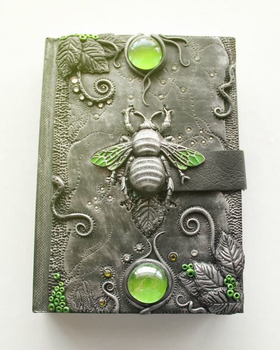 Polymer clay journals by MyMandarinDucky on Etsy
