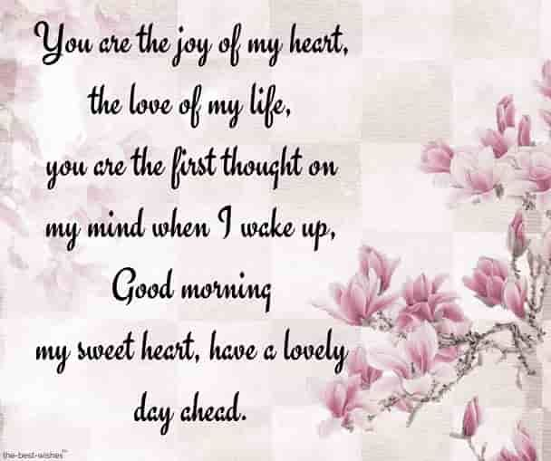 Good Morning Sweetheart Text Messages & Love Letters for Him or ...