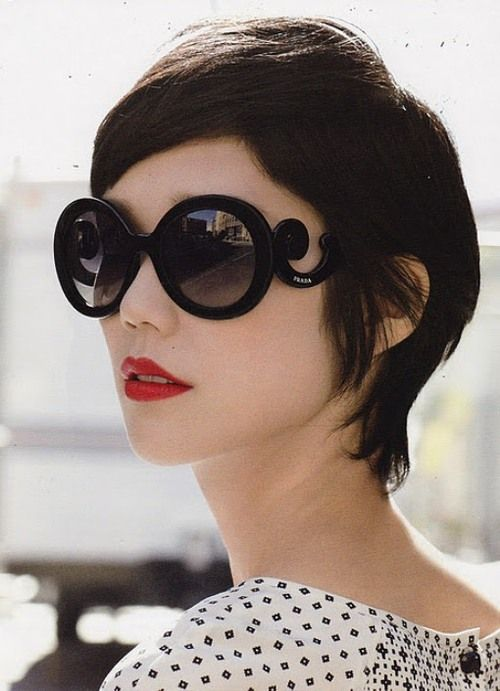 tao okamoto for prada's minimal baroque glasses s/s 2011 campaign