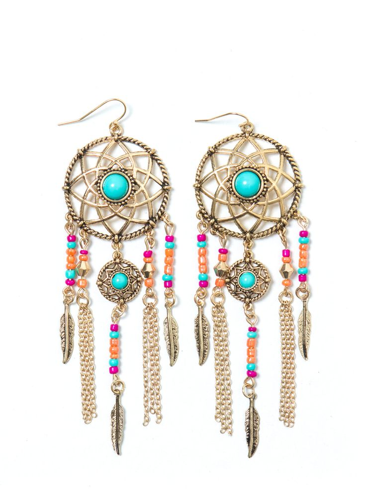 Follow Ur Dream Catcher Earrings