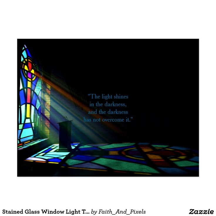Stained Glass Window Light Through A Church