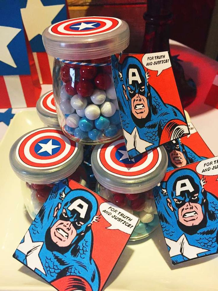 Captain America Birthday Party Ideas   Photo 1 of 19   Catch My Party