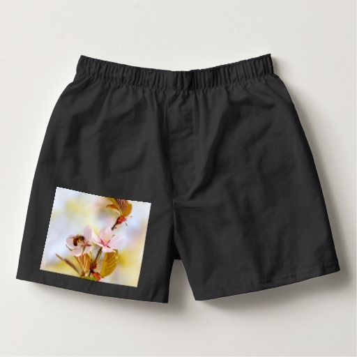 Bee On A Cherry Flower Boxers