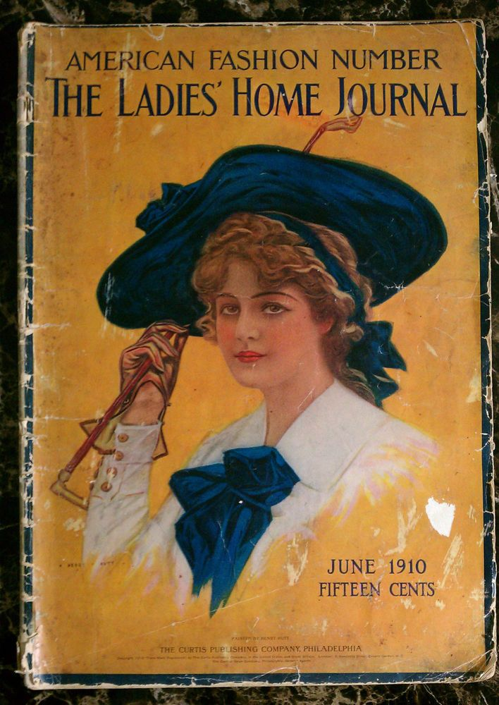 1910 JUNE LADIES HOME JOURNAL MAGAZINE  AMERICAN FASHION  HENRY HUTT ANTIQUE ADS