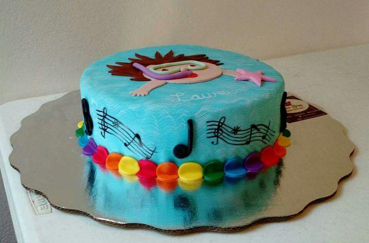 Pastel musica, natación y pintura