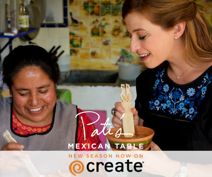 So excited that Create TV is running back to back episodes from the new Season of Pati's Mexican Table starting TONIGHT! Here's schedule, basically every day 6:30pm and 9:30pm and for those night owls a 3:30am repeat.