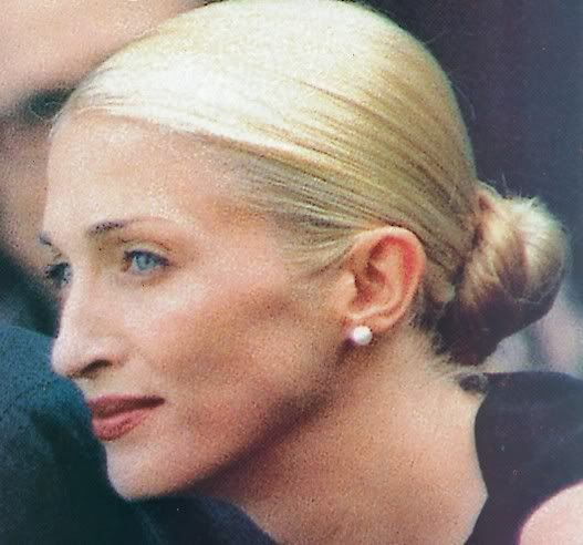 She was immaculate - the hair, the make-up, the understated jewelry. Carolyn Bessette.
