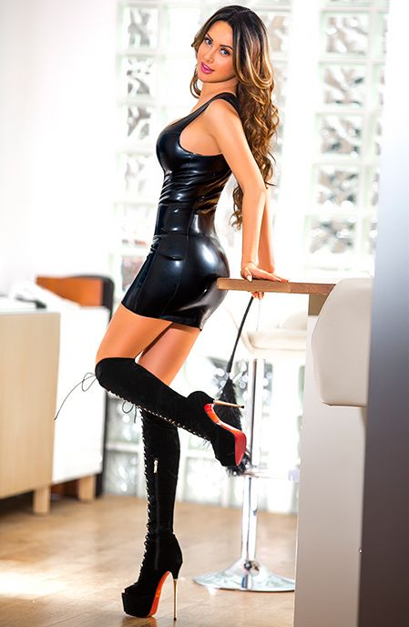 Matchless sexy thigh high boots and dress