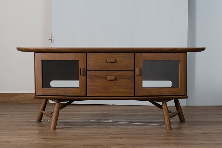 ISSEIKI テレビボード 無垢 【他にはない家具が欲しい方へ】 ウォールナット材 高級 高品質 デザイナー家具 木製