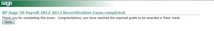 Yay - I passed my Sage 50 Payroll exam!