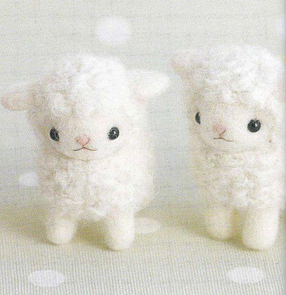 Cute Needle Felt Sheep Mascot Needle Felting by DollyAndPaws, $3.00
