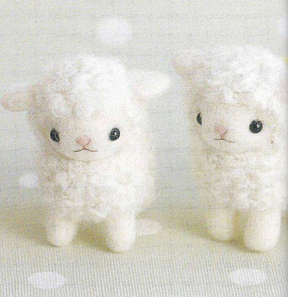 Cute Needle Felt Sheep Mascot Needle Felting Miniature Animal Doll Crafts E PATTERN PDF in Japanese via Etsy