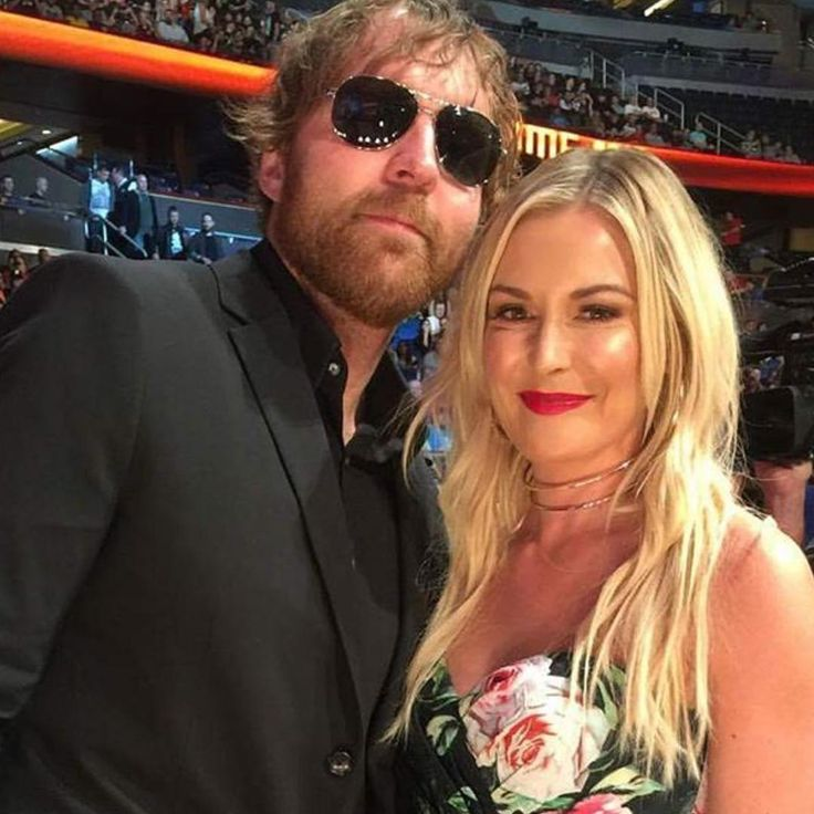 WWE Superstar Dean Ambrose (Jonathan Good) and his girlfriend Renee Young (Renee Paquette)