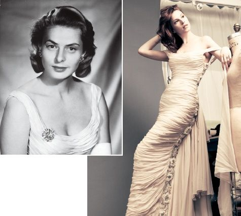 gownGrandmothers Ingrid, Bergman Dresses, Met Gala, Vintage Dresses, Gowns, Met Ball, Dreams Dresses, Ingrid Bergman, Beautiful Vintage