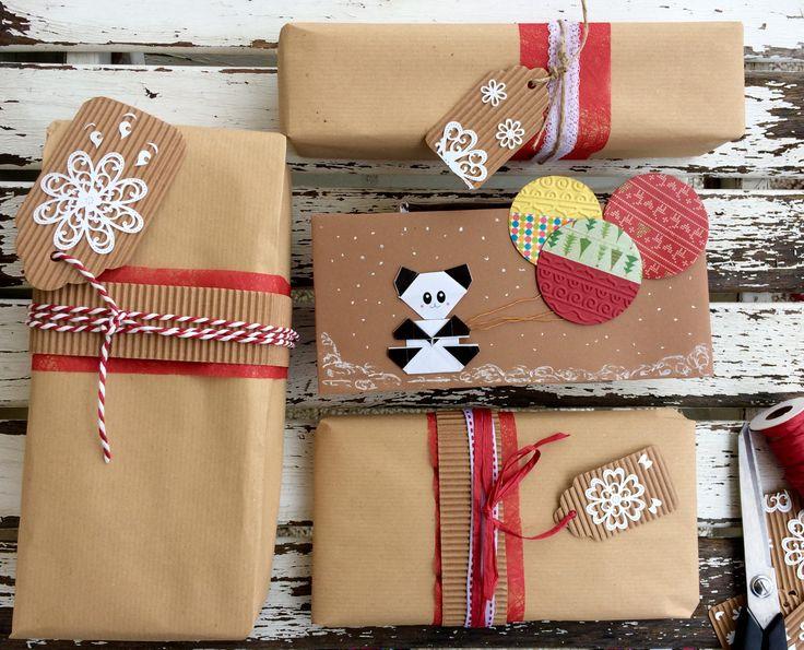 Pacchetti regalo natalizi, gift wrapping carta da pacco