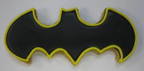 #Batman Bat Logo Cookies...  Yes please.