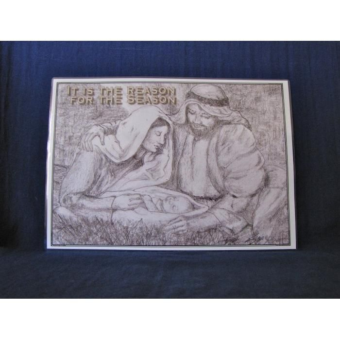 25% Off Sale Now $3.75 It is the Reason for the Season Mini Poster by PaperWorks on Handmade Australia