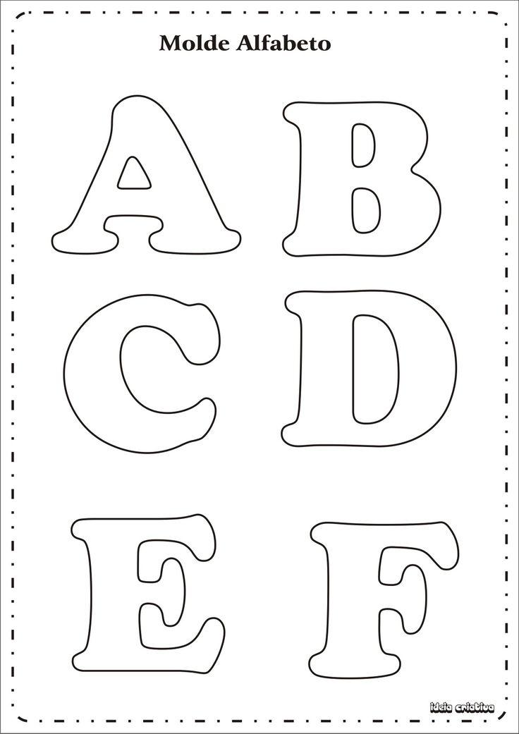 eva dalva@arte: molde de alfabeto
