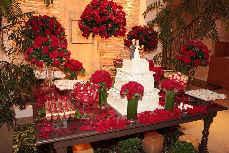 casamento vermelho e branco                              …