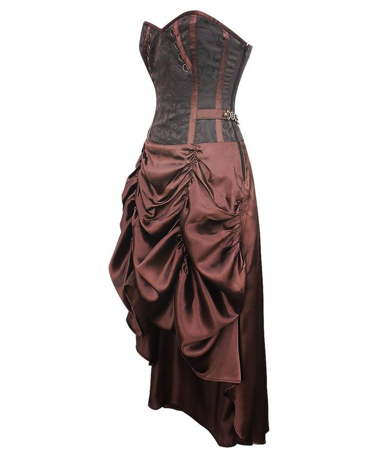 Elsbeth Steampunk Corset Dress with Gathered Skirt