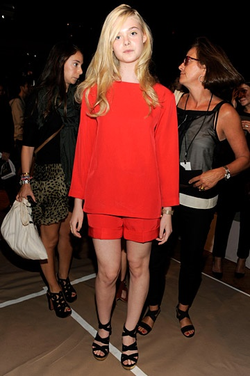 The lovely Elle Fanning backstage at Marc by Marc Jacobs