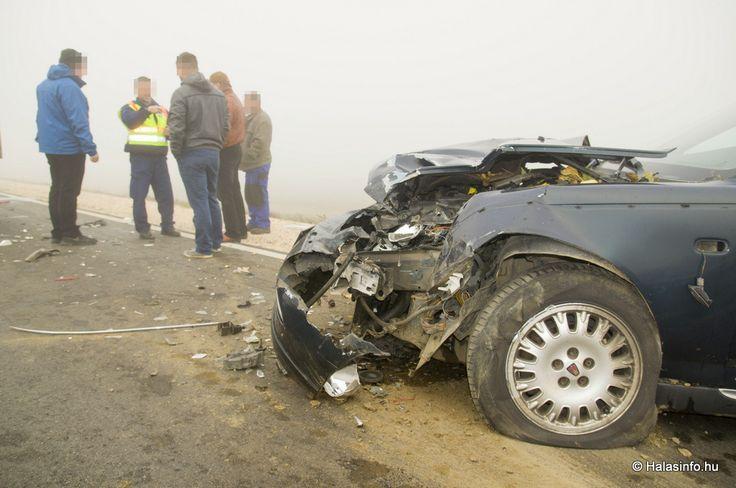 Tömeges baleset a sűrű ködben: hat jármű ütközött össze – KÉPEK! | Kiskunhalas hírei
