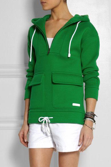 Burberry Brit Scuba cotton-jersey hooded top #NETASPORTER