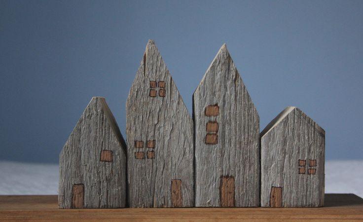 little wooden houses.