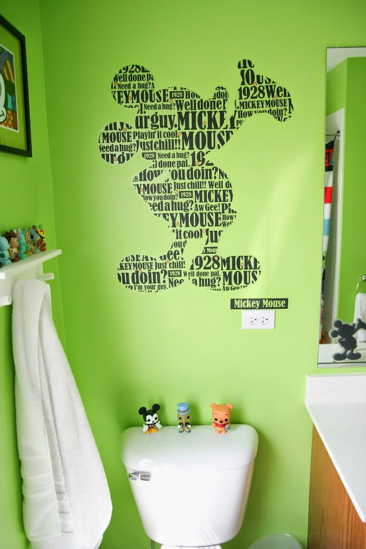 Jeff and Amy Adoption Blog: Mickey Mouse Pop Bathroom!