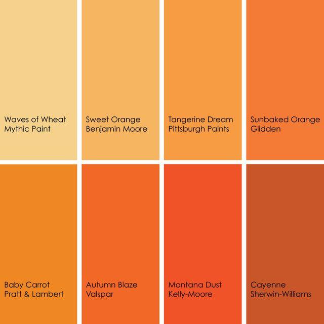 Orange Color Palette Trend Orange Pinterest Colors