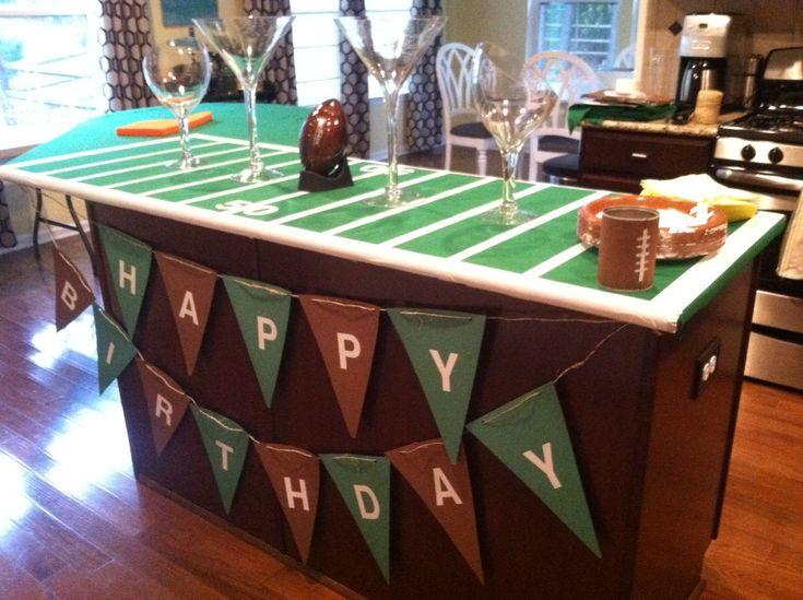 Football party decor for Jon's birthday!