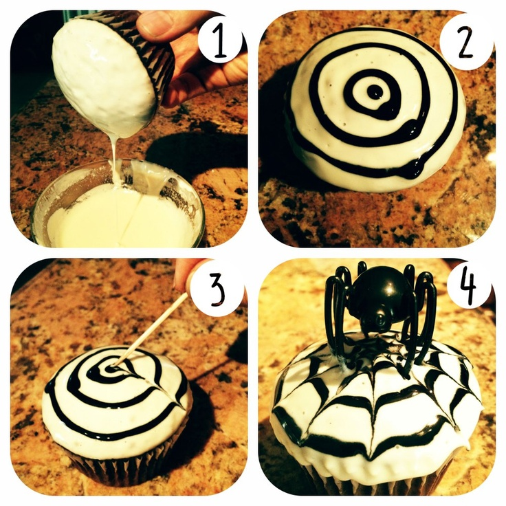 13 best Halloween Cupcake ideas images on Pinterest Halloween - halloween cupcake decor