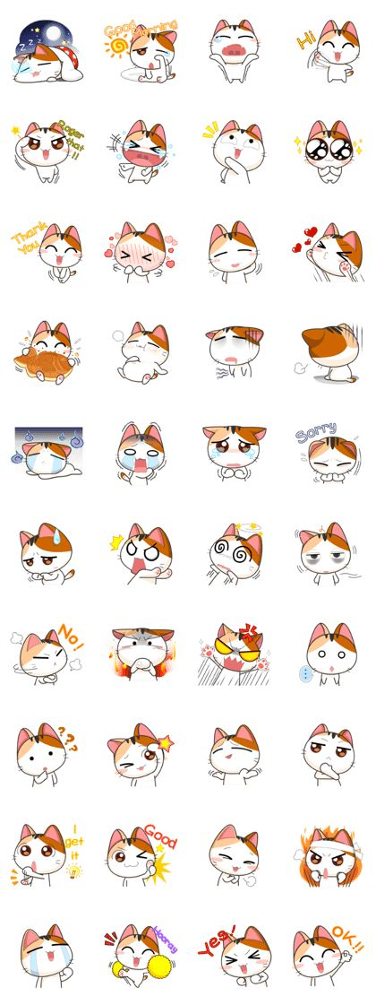 caras de gatos. (graciosas)
