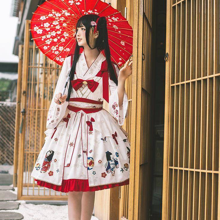 Mirror Flower Wa Lolita Jumper Dress