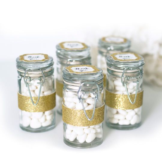 <div><div>Add a creative touch to your special occasion! These favor jars make wonderful tableto...