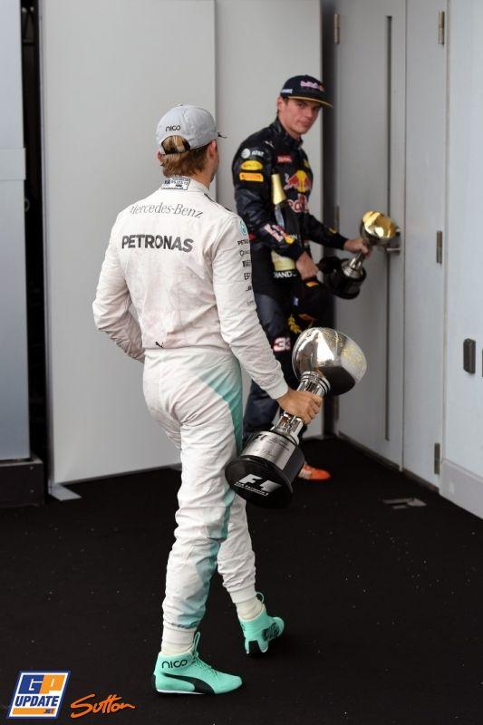 Nico Rosberg, Max Verstappen, Mercedes Grand Prix, Formule 1 Grand Prix van Japan 2016, Formule 1