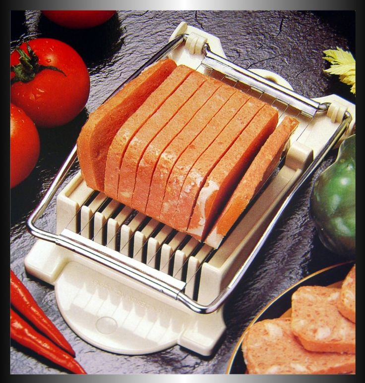 because yes, i want my spam evenly sliced! // Lunch Meat Slicer Hawaii Sushi Spam Musubi Maker Luau